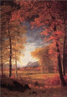Autumn in America, Oneida County, New York - Albert Bierstadt