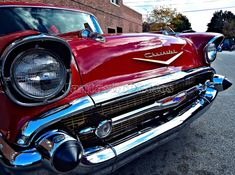 Red Bel Air: Photograph of 1957 Chevrolet Bel by JantasticPhotos