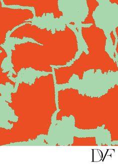 DVF| Forest Weave Orange Mint Print, Pre-Fall 2012: Macadam Diva