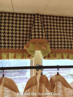 Houndstooth & Burlap Curtains – An Unexpected Combination | Beyond the Screen Door