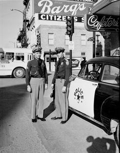 The SAPD has a long history of patrolling the streets of downtown San Antonio. Here is an old picture of a Sergeant and Officer at W. Market and Main Plaza.
