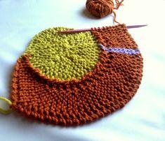 First round of the 10 stitch twist blanket by frankie brown