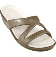 c8444dad9315 Take a look at this Khaki  amp  Oyster Patricia II Slide - Women by Crocs
