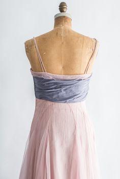 1950s Pink Silk Layered Gown - S | G O S S A M E R