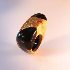 Anello di legno ulivo gioiello scultura di SPhandmadejewelry
