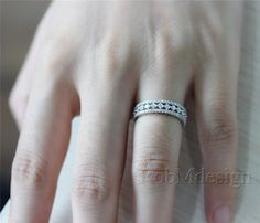 Diamond Ring 14k White Gold Ring with 1.1ct H/SI by RobMdesign