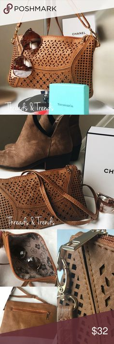 Spotted while shopping on Poshmark: Brown Laser Cut Clutch! #poshmark #fashion #shopping #style #Threads & Trends #Handbags