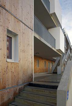 """Résidence """"Le Lavoir"""" Mésolia, Lormont, 2014 /Brochet Lajus Pueyo agence d'architecture"""