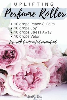 uplifting perfume roller with stess away, valor essential oil, peace and calm and joy essential oil blend Valor Essential Oil, Essential Oil Perfume, Essential Oil Diffuser Blends, Young Living Essential Oils, Perfume Oils, Diy Perfume Recipes, Living Oils, Scrubs, Homemade