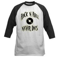 Rock N Roll Never Dies Baseball Jersey> Rock N Roll Never Dies> Route 73 Design and Printing Inc.
