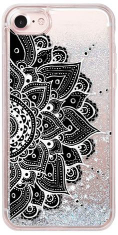 Casetify iPhone 7 Glitter Case - Mandala by Li Zamperini Art #Casetify