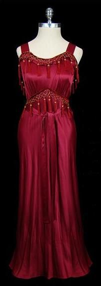 Dress, 1930s, The Frock... They used such beautiful materials in those days.