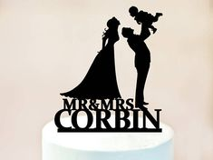 Family Cake Topper,Bride and Groom with little Boys Cake Topper,Couple with child Cake Topper,Cake Toppers with Girl, silhouette Family 1129 Monogram Cake Toppers, Personalized Wedding Cake Toppers, Custom Cake Toppers, Little Boy Cakes, Cakes For Boys, Silhouette Family, Wedding Silhouette, Family Cake, Acrylic Cake Topper