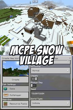 Enter the seed TOUGHTOUGH to try this Minecraft PE Snow Village Seed! #MCPE