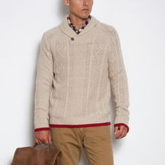 Cabin Cable Sweater | Men's Tops Sweaters and Cardigans | Roots