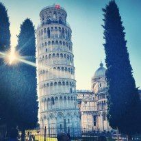Pisa, whilst on holiday with Eurocamp