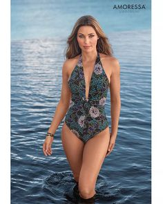 Amoressa by Miraclesuit - Rhiannon Dream Plunge One Piece Swimsuit One Piece Swimsuit Slimming, Plunging One Piece Swimsuit, Women Swimsuits, Snug Fit, Swimwear, Model, How To Wear, Shopping, Fashion