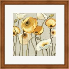 Global Gallery Shirley Novak Watercolor Birds I Sq Giclee Stretched Canvas Artwork 30 x 30