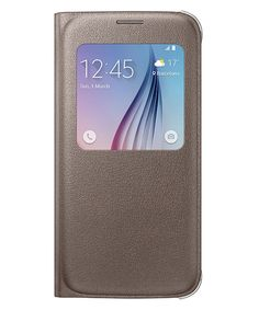 Samsung Galaxy S6 S-View Cover Goud
