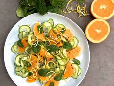 Orange and Cucumber Ribbon Salad