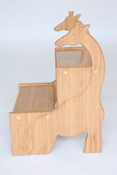 Amazing hand-crafted giraffe stool made from birch wood. Perfect for little kids' rooms or around the house.