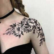 Výsledok vyhľadávania obrázkov pre dopyt floral shoulder tattoo
