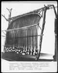 warp-weighted loom reconstruction at Neumünster Textilmuseum in the 1930s