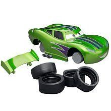 """Disney Pixar Cars 2 Hot Rod Lightning McQueen RIDEMAKERZ Starter Kit by RIDEMAKERZ. $39.95. 4 Tires. Disney Pixar Cars 2 Hot Rod Lightning McQueen Starter Kit. Spoiler. 1 Body. Ridemakerz offers kids the opportunity to customize and """"trick out"""" their very own Cars 2 ride!"""