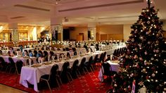 Christmas wedding decorations for a reception #christmas #wedding