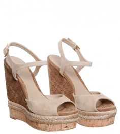 c9b69b1bac7 Gucci Nude Suede Wedge Espadrille Shoes