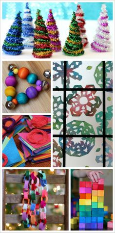 Rainbow Christmas Activities and Crafts for Kids