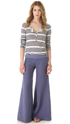 Enza Costa                                                     Wide Leg Pants ....love them!