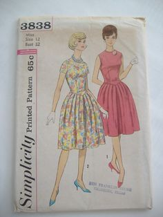Simplicity Pattern 3838 Junior and Misses' by RetroSpecial on Etsy