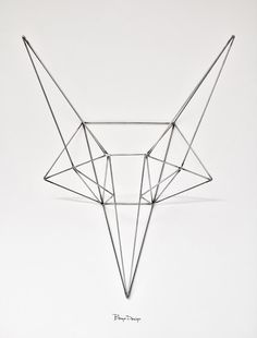 Steel Fox from Bongo Design - refreshing design for the animal head on the wall trend