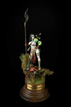 Mother of Dragons by Karol Rudyk · Putty&Paint Warhammer Dark Elves, Warhammer Fantasy, Frame Arms Girl, Fantasy Miniatures, Custom Action Figures, Mother Of Dragons, Miniature Figurines, Mini Paintings, Sculpture Clay
