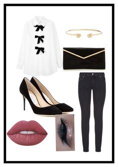 """Untitled #42"" by angyeisnotonfire ❤ liked on Polyvore featuring Paige Denim, See by Chloé, Jimmy Choo, Gucci and Lime Crime"