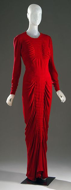 Charles James - Couturier - Robe de Soirée 'Sirène' - 1939 - Rouge.