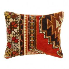 This is wool. Back cotton. Beautiful colors and well made. This pillow features a hidden zipper closure with neutral fabric backing. From Turkey. Hand Knotted Rugs, Hand Weaving, Moroccan Decor Living Room, Sewing Pillows, Magic Carpet, Crochet Motif, Textile Patterns, Decorative Pillows, Throw Pillows