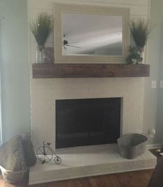 48 Stunning Brick Fireplace Mantle Design Ideas On A Budget | Looking for some fireplace mantel designs ideas? There are so many options of both materials and looks available, that you're sure to be able to eithe...