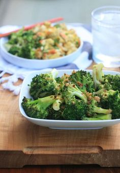 Asian Broccoli with Garlic and Ginger (MG note: Just made this for dinner -- YUM!)
