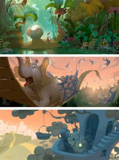 Emoções da Pixar pelas cores de Dice Tsutsumi | THECAB - The Concept Art Blog | THECAB - The Concept Art Blog