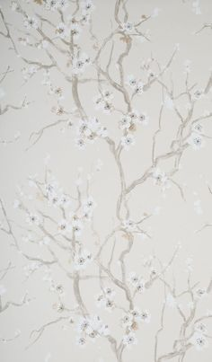 wallpaperboutique  Secret Garden Secret Garden by Hooked On Walls £76.00  per roll		 	 This fabulous Japanese influenced wallpaper with blossom trees and swans, a different look but truly amazing. Papers are non woven heavy domestic and wipe down. Please request for sample and they are also paste the wall.   Code 46006	Width 0.69m Roll length 10m	Pattern repeat 0.64m