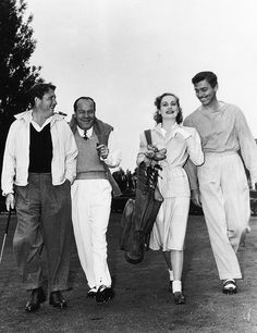 A candid shot of Hollywood legends' Spencer Tracy, Carole Lombard and Clark Gable with notorious MGM studio executive Eddie Mannix, circa Hollywood Couples, Old Hollywood Stars, Golden Age Of Hollywood, Vintage Hollywood, Classic Hollywood, Hollywood Men, Hollywood Party, Hollywood Glamour, Carole Lombard
