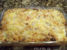 Feed a Crowd on a Budget: Baked Mac n Cheese w/beef, turkey, pork, or chicken. Perfect as a main dish, or a side!