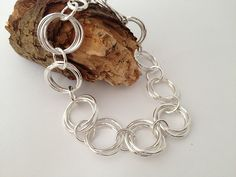 sterling silver link bracelet by Eve smith, silvermeadows., via Flickr