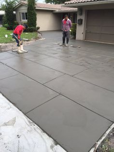 Concrete patio diy cement driveways ideas for 2019 Diy Concrete Patio, Concrete Patio Designs, Patio Slabs, Concrete Driveways, Patio Flooring, Backyard Patio Designs, Diy Patio, Concrete Floors, Patio Ideas