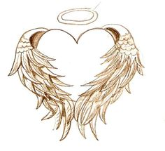 angel wing designs pin heart amp angel wings tattoos free tattoo
