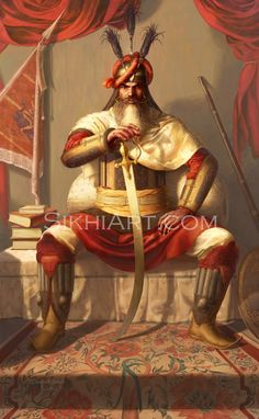 General Hari Singh Nalwa by Sikh artist Bhagat Singh. Visit his website at: http://sikhiart.com/
