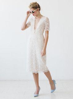 Robe en dentelle, de Sarah Seven - Mariage 2017: 25 robes de mariée pour tous les budgets