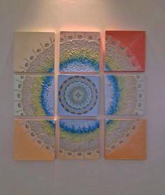 Mandala explodida Pintura em painéis
